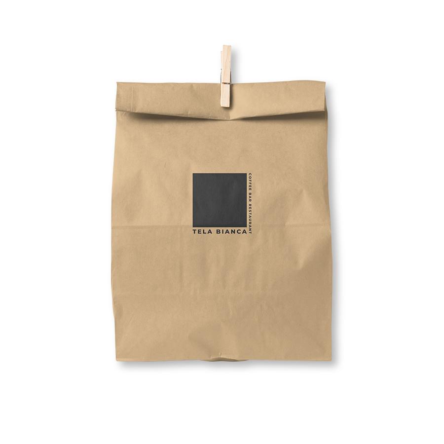 tela bianca paper bag detailed pics